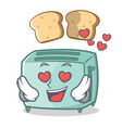 in love toaster character cartoon style vector image vector image