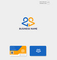 initial ca or ac creative logo template and vector image