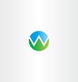 letter w mountain symbol logo vector image vector image