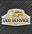 logo for taxi service vector image vector image