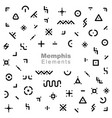 memphis elements set vector image