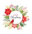 merry christmas greeting card in elegant modern vector image