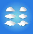 modern cloud vector image vector image