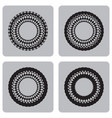 monochrome set of icons with unusual circles vector image vector image