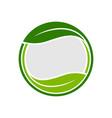 organic leaf circle emblem symbol graphic logo vector image vector image