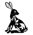 ornament decoration tribal rabbit tattoo vector image
