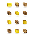 Package icons set vector image vector image