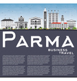 Parma Skyline with Gray Buildings Blue Sky vector image vector image