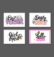pink power super girl gorgeous graffiti stickers vector image