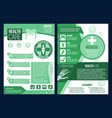 poster for medical research health center vector image