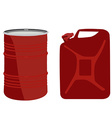 Red barrel and canister vector image vector image