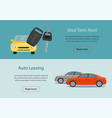 rental car and auto leasing banners vector image vector image