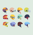 safety sport helmet head accident protection vector image