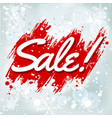 sale lettering on winter background vector image