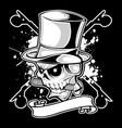 screw skull nut vector image vector image