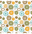seamless background of color gear wheels vector image vector image