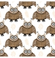 Seamless pattern with cute owls vector image vector image