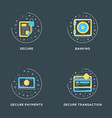 secure banking secure payments secure transaction vector image vector image
