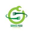service food logo vector image vector image