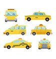set different types taxi cars vector image