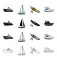 ship steamer sports and other web icon in vector image vector image