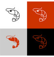 shrimp linear icon line style symbol shrimp vector image vector image