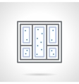 Snowy window simple line icon vector image