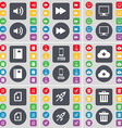 Sound Rewind Monitor Notebook Smartphone Cloud vector image vector image