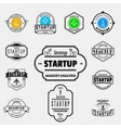 Startup badges logos and labels for any use vector image vector image