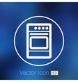 stove icon fuel hob meal electric blaze plate vector image vector image