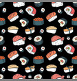 sushi seamless background vector image vector image