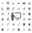 teacher icon trainer symbol modern vector image vector image
