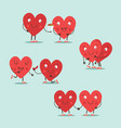 two happy hearts in love cute couple in love vector image vector image