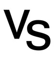 versus vs letters icon on white background flat vector image vector image