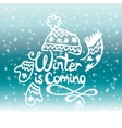 Winter is coming Christmas Background vector image vector image