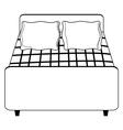 hotel bed vector image