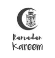 traditional lantern of Ramadan- Ramadan Kareem vector image