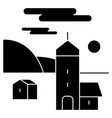 village icon sign o vector image