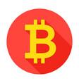 bitcoin circle icon vector image