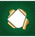 Christmas Green Torn vector image