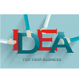 Idea concept with human hands retro style vector image