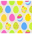 Colorful easter egg seamless background vector image