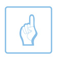 Fan foam hand with number one gesture icon vector image