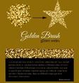Golden glitter brush for any pattern fills vector image
