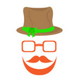 abstract hipster avatar with oktoberfest hat vector image vector image