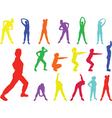 aerobics girl 6 vector image vector image