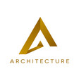 architrcture logo design isolated vector image vector image