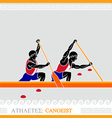 Athlete canoeing vector image
