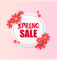 banner design template with floral decoration for vector image