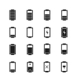 Battery web iconssymbolsign in flat style Charge vector image vector image
